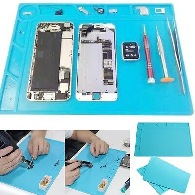 34x23 cm Heat-resistant Silicone Pad Soldering Repair Station Desk Mat with 20 c