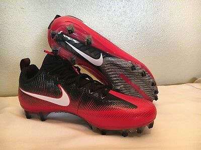Nike Vapor Untouchable Pro Football Cleats Size 9.5 Black Red White 839924-602