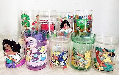 Collectable 11 x VINTAGE CHILDREN TV Disney  Plastic Glasses goblets