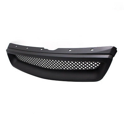 For 1999-2000 Honda Civic Type R Black Mesh ABS Front Hood Grille Grill