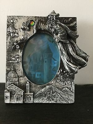 Spooky wizard, bats, skulls and moonstone picture frame FREE P&P REDUCED