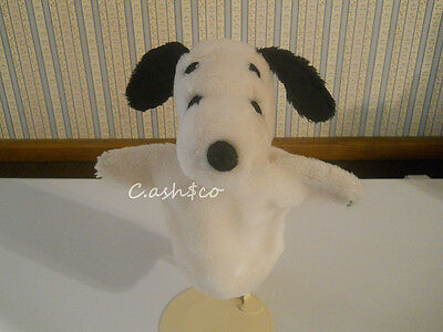 Rare vintage 1968 plush Snoopy hand puppet Peanuts Gang United Feature