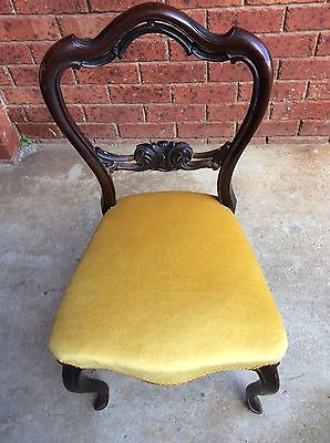 Single Antique Chair Upholstered And In Great Condition