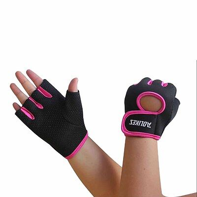 1 Pair Gym Body Building Training Fitness Gloves Sport Workout Exercise Crossfit