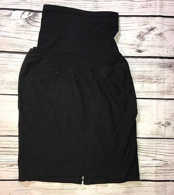 (M) A Pea in the Pod Women Black Skirt Maternity Pull On Stretch Secret Fit