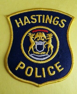 Hastings, Michigan Police Shoulder Patch Mi