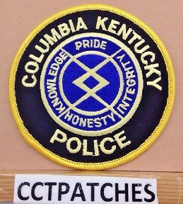 Columbia, Kentucky Police Shoulder Patch Ky