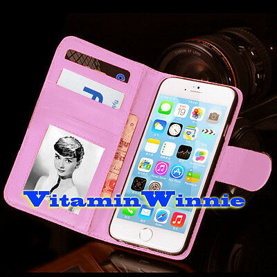 Wallet Flip Case Cover for Apple iphone 6s 6 Light Pink with Card Slots