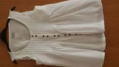 Girls White/silver Blouse Age 12 From Next