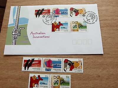 2004 Australian Innovations 5 x 50c MNH stamps + FDC