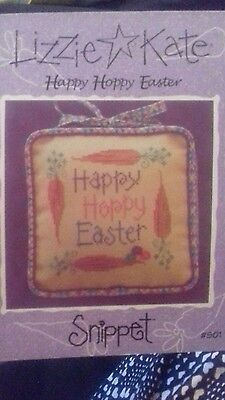 happy hoppy easter lizzie kate cross stitch chart