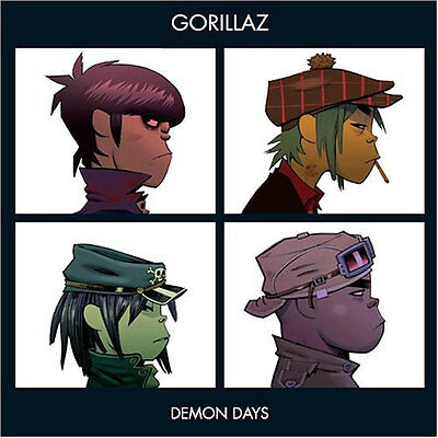 "Gorillaz "" Demon Days "" New Uk Lp Re-Issue ** Clear Transparent Vinyl **"