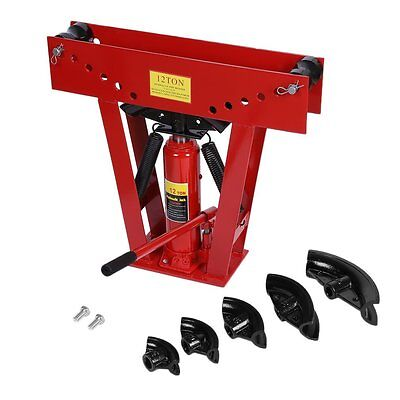 Hydraulic Pipe Tube Bender 6 Dies Tubing Exhaust Bending 12 Ton Heavy Duty MY