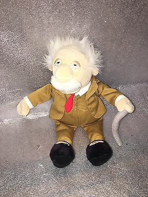 """The Muppets Waldorf Plush Disney Store Exclusive Soft Toy 10"""" Grumpy Old Man"""