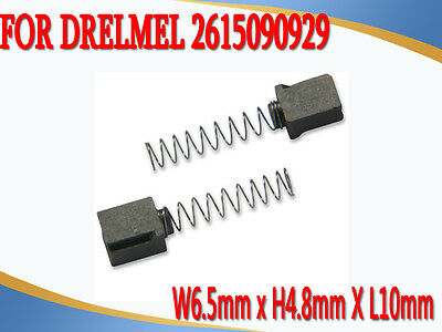 Carbon Brushes For DREMEL 2615090929 90929 275 285 395 6.5X4.8X10mm Type1&2 Only
