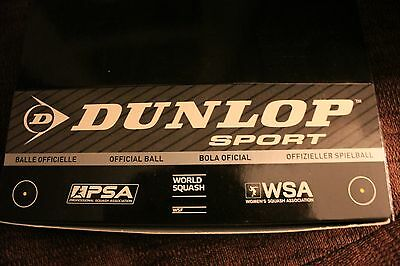 Dunlop Competition Squash Balls pack 3, Yellow Dot