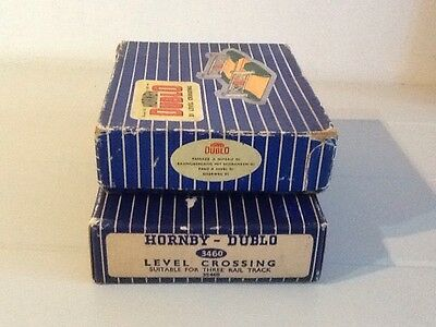 Hornby Dublo Original Empty Box D1 And 3460 Level Crossing