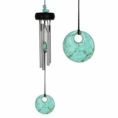Woodstock Turquoise Gemstone Wind Chime Feng Shui Garden Interior Decor