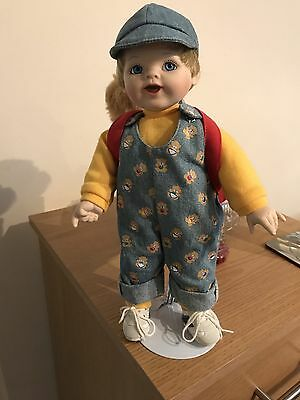 Porcelain Boy Doll With Stand