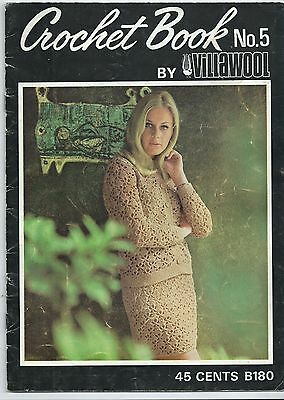 Vintage Villawool Crochet Book No.5 - Dresses and Pants - 1970s