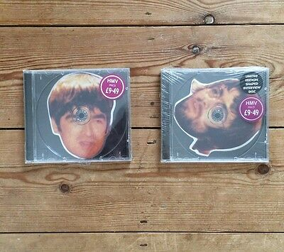 4 Ultra Rare Oasis Head Shaped Interview Discs (Liam And Noel Gallagher)