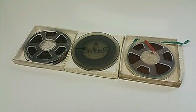 "3 x Reel to Reel 5"" Tapes Vintage Audio Media"