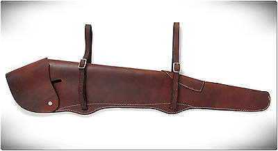 Leather Rifle Scabbard Gun Protection Hunting Firearm Carrying Transport Case