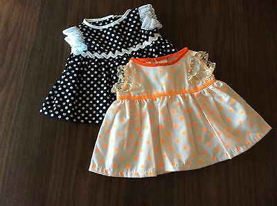 Dolls Clothes - Cabbage Patch Dress x 2
