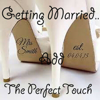 X1 Pair Personlised Wedding Shoe Stickers, Mrs, Help Me, Shes Mine,Brides maid