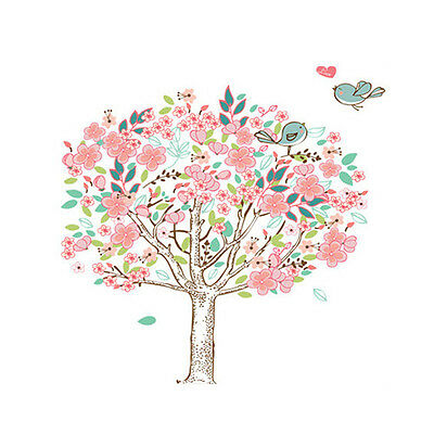 Bird Flower Tree Removable Vinyl Wall Sticker Home Decor Decals Art Wall Y9M1