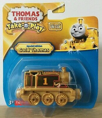 NEW Special Limited Edition Take 'n Play GOLD THOMAS The Tank Engine Train Toy