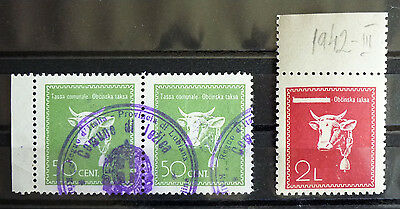 Wwii Slovenia - Italy - Extrem Rare Revenue Stamps + Nice Cancel On Pair Rr!! J1