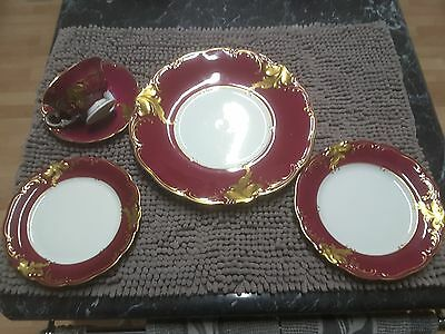 vintage shabby chic china crockery plates hand painted made in Poland