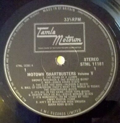 Motown Chartbusters Vol 5 - Tamla Motown Record - Northern Soul Various Artists