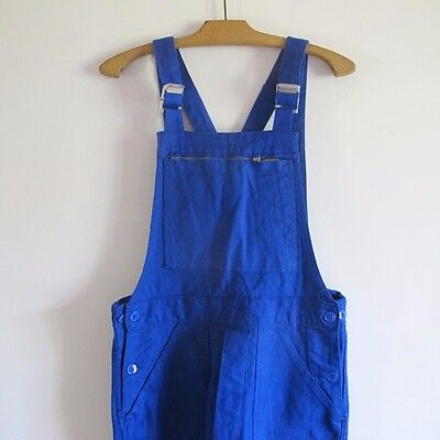 Vintage French Workwear overalls blue cotton dungarees unisex