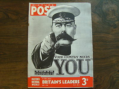PICTURE POST - 1st JUNE 1940 - Vol. 7  Number 9 - BRITAINS LEADERS