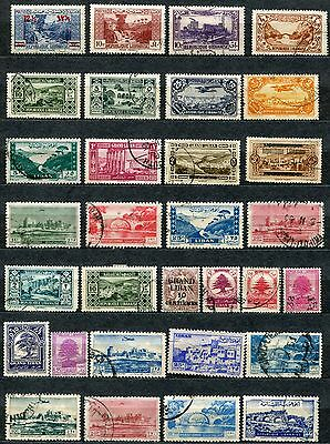 Lebanon, middle east, high combined cat, collection of 44 stamps.