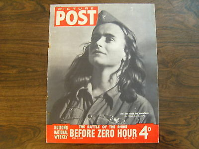 PICTURE POST - 7th APRIL 1945 - Vol. 27  Number 1 - BEFORE ZERO HOUR