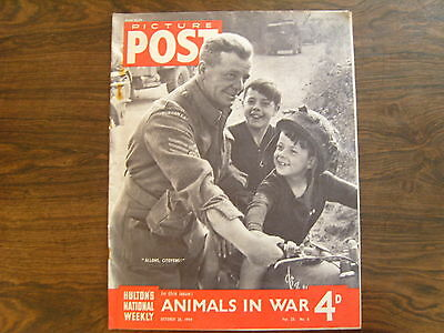PICTURE POST - 28th OCTOBER 1944 - Vol. 25  Number 5 - ANIMALS IN WAR