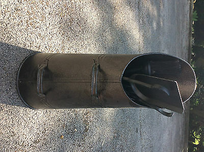 Black Iron Coal Scuttle And Fire Tool Companion Set New And Unused