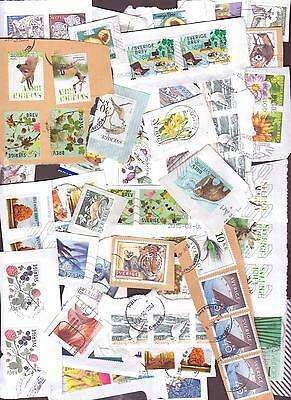 Sweden - Nice, Colourful On  Paper  Mix - Postally  Used  Stamps.