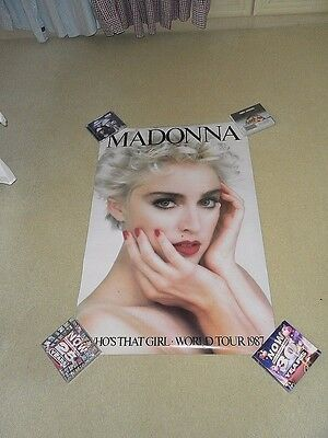 Madonna  Who's That Girl world Tour Poster 1987