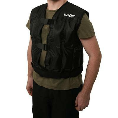 Klarfit W1B5 Weight Vest 5Kg Weighted Jacket Running & Training Strength Fitness