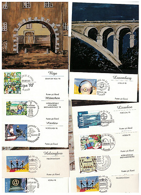 Finland - Åland 10 exchibitions cards ,1998, nice collection