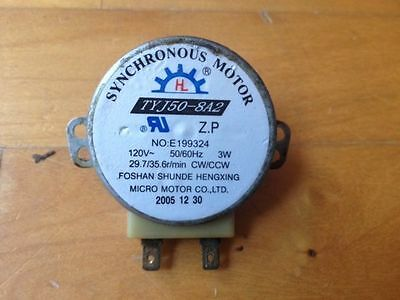 Microwave turntable motor 29.7 / 35.6 RPM TYJ50-8A2 Long Shaft