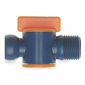 LOC-LINE Male NPT Valve,1/2 In,PK2, 32092