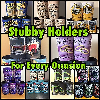 Promotional Stubby Holders x25 With Bases, Full Custom Print