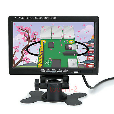 7 Inch HD 1024x600 LCD Display Monitor w/ HDMI VGA AV Input for Car/Camera/PC/CC