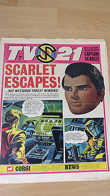 TV21 Magenta ed.  NO 184 captain scarlet good condition  stingray  thunderbirds