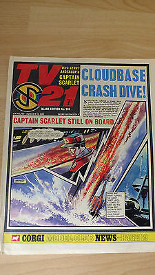 TV21  Black edition no 186 captain scarlet good condition  thunderbirds. zero x